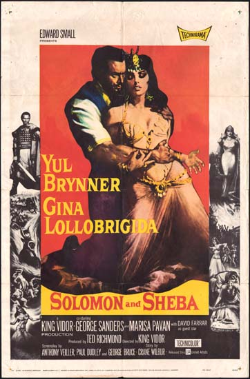Solomon and Sheba US One Sheet movie poster