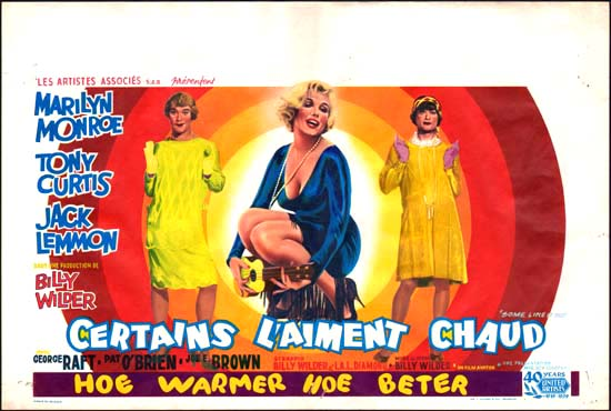 Some Like It Hot Belgian movie poster