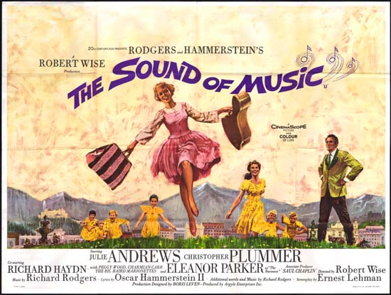 Sound of Music, The UK Quad movie poster