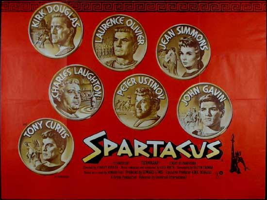 Spartacus UK Quad movie poster