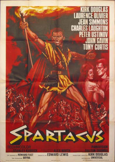 Spartacus Italian Due Fogli movie poster