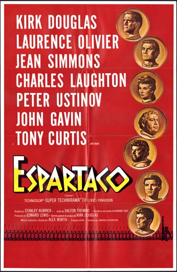 Spartacus US One Sheet spanish language movie poster