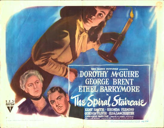 Spiral Staircase, The US Half Sheet style B movie poster