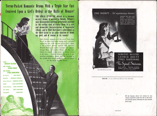 Image 2 of Spiral Staircase, The US Pressbook