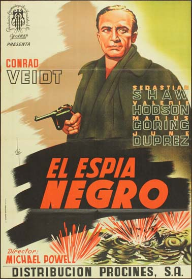 Spy in Black, The [ U-Boat 29 ] Spanish One Sheet movie poster
