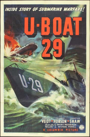 Spy in Black, The [ U-Boat 29 ] US One Sheet movie poster