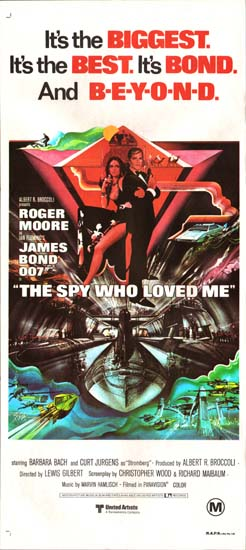 Spy Who Loved Me, The Australian Daybill movie poster