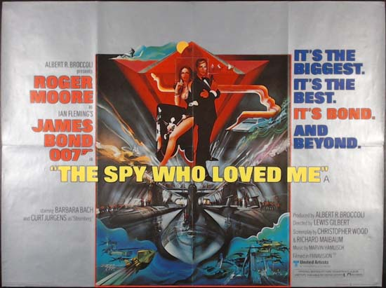Spy Who Loved Me, The UK Quad movie poster