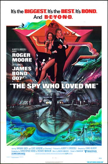 Spy Who Loved Me, The US One Sheet movie poster