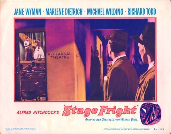 Stage Fright US Lobby Card number 2