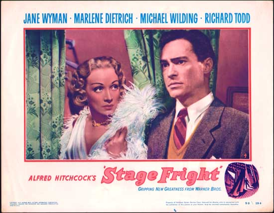 Stage Fright US Lobby Card number 4