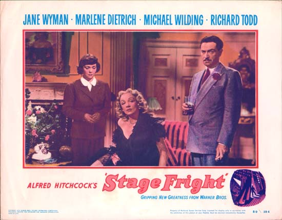 Stage Fright US Lobby Card number 6