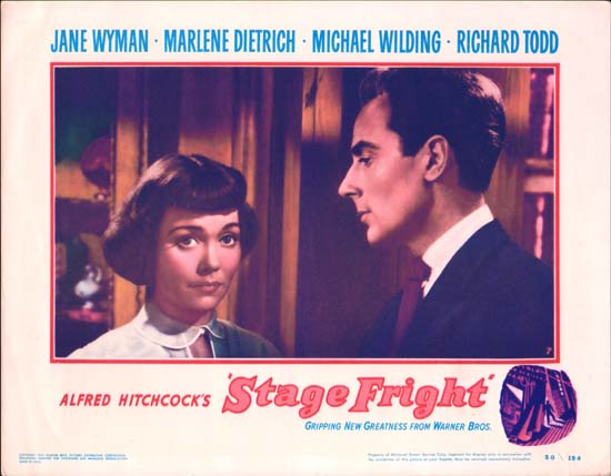 Stage Fright US Lobby Card number 7