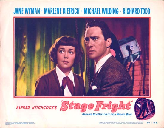 Stage Fright US Lobby Card number 8