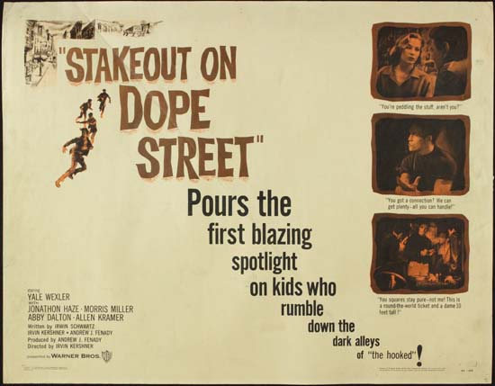 Stakeout on Dope Street US Half Sheet movie poster