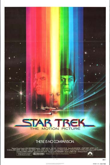 Star Trek The Motion Picture US One Sheet advance movie poster