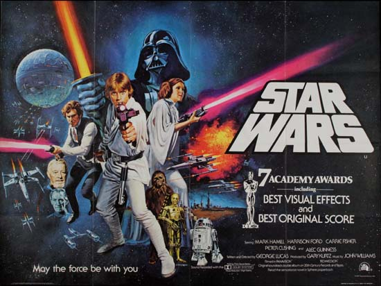 Star Wars UK Quad movie poster