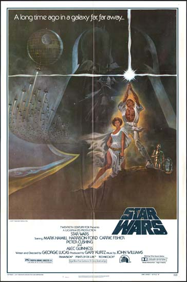 Star Wars US One Sheet style A movie poster