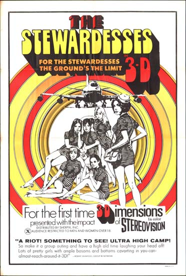 Stewardesses, The (3-D) US One Sheet movie poster