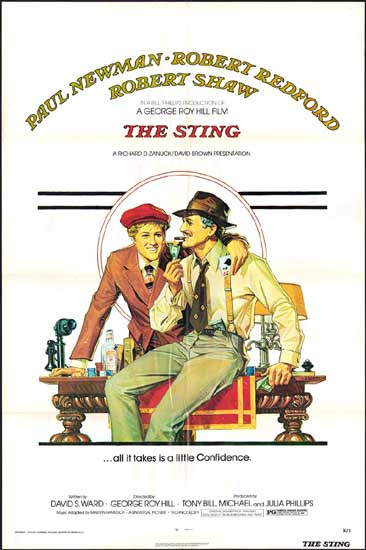 Sting, The US One Sheet movie poster