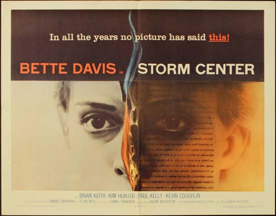 Storm Center US Half Sheet style A movie poster