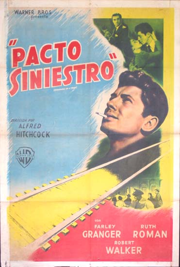 Strangers on a Train Argentinian One Sheet movie poster