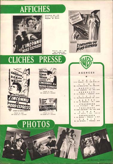 Image 3 of Strangers on a Train French Pressbook