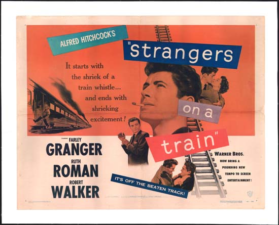 Strangers on a Train US Half Sheet movie poster