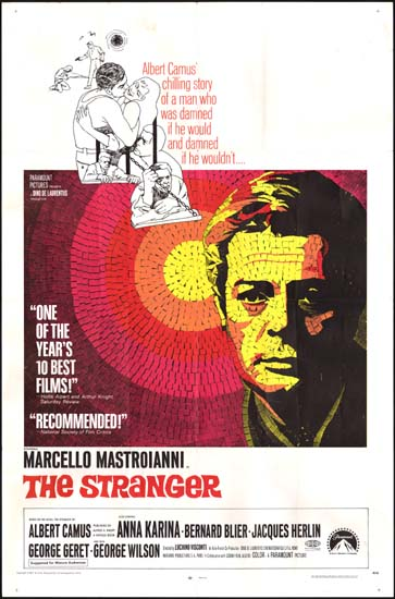 Stranger, The [ Lo Straniero ] US One Sheet movie poster