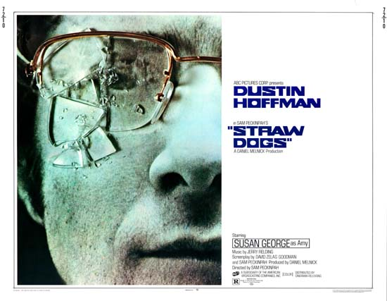 Straw Dogs US Half Sheet movie poster