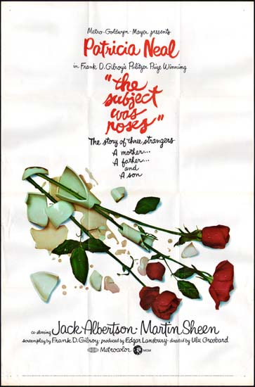 Subject Was Roses, The US One Sheet movie poster