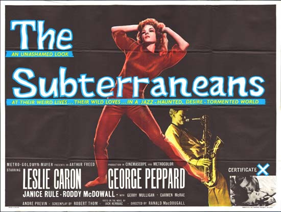 Subterraneans UK Quad movie poster