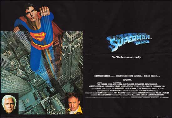 Superman UK Quad movie poster
