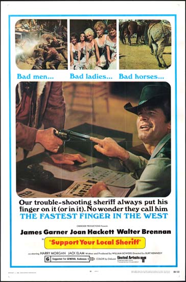 Support Your Local Sheriff US One Sheet movie poster
