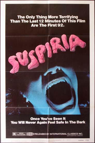 Suspiria US One Sheet movie poster