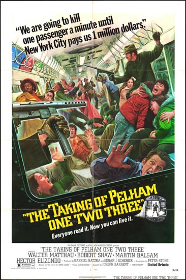 Taking of Pelham One Two Three, The US One Sheet movie poster