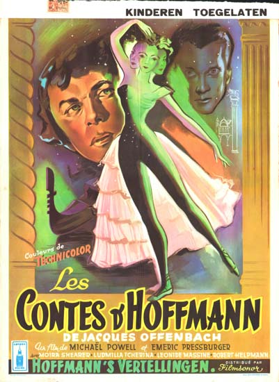 Tales of Hoffmann, The Belgian movie poster