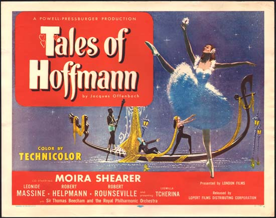 Tales of Hoffmann, The US Half Sheet movie poster