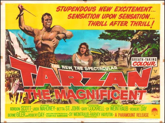 Tarzan the Magnificent UK Quad movie poster