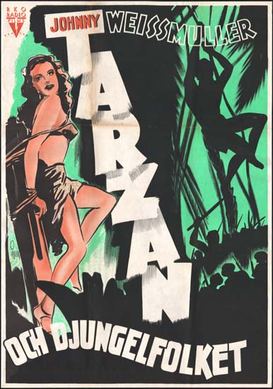 Tarzan Triumphs Swedish One Sheet movie poster