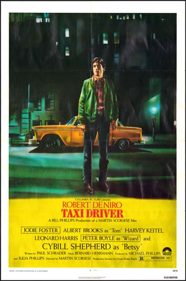 Taxi Driver US One Sheet movie poster