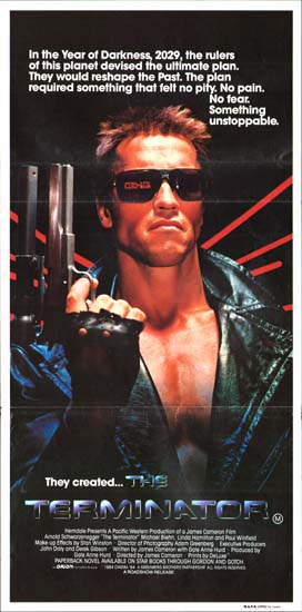 Terminator, The Australian Daybill movie poster