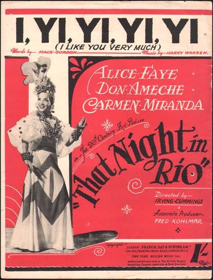 That Night In Rio UK Sheet Music