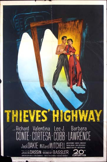 Thieves Highway US One Sheet movie poster