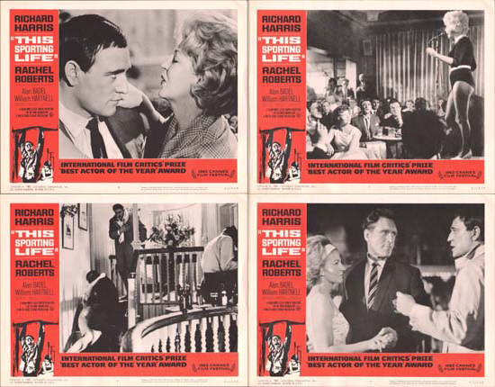 Image 2 of This Sporting Life US Lobby Card Set of 8