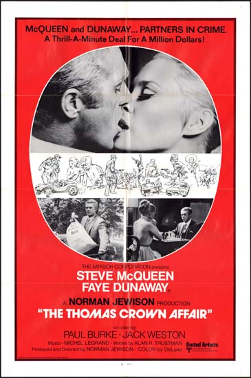 Thomas Crown Affair, The US One Sheet international movie poster
