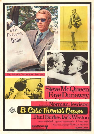 Thomas Crown Affair, The Spanish One Sheet movie poster