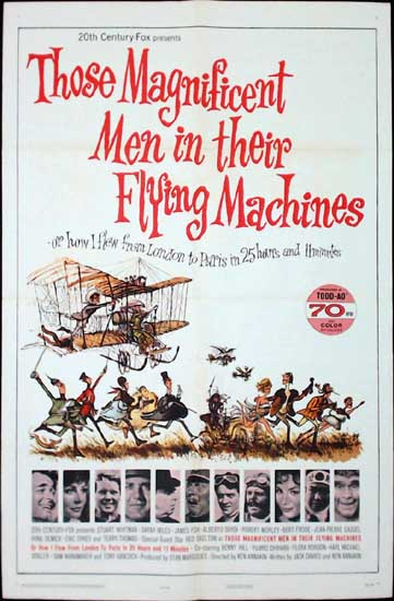 Those Magnificent Men in their Flying Machines US One Sheet movie poster