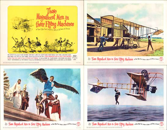 Those Magnificent Men in their Flying Machines US Lobby Card Set of 8