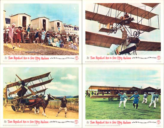 Image 2 of Those Magnificent Men in their Flying Machines US Lobby Card Set of 8